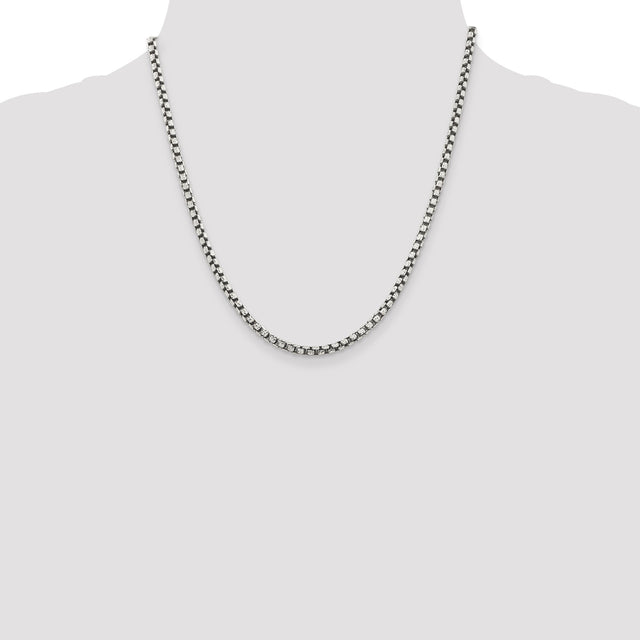 Sterling Silver Antiqued Chain (RGJQFC136)20in