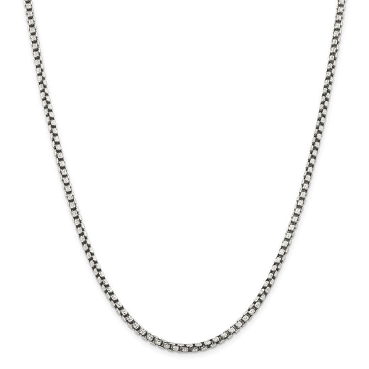 Sterling Silver Antiqued Chain (RGJQFC136) Front