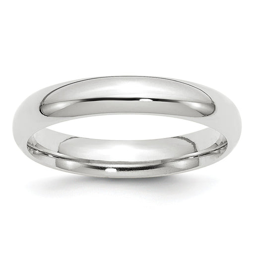 White Gold Comfort Fit Wedding Band 4mm