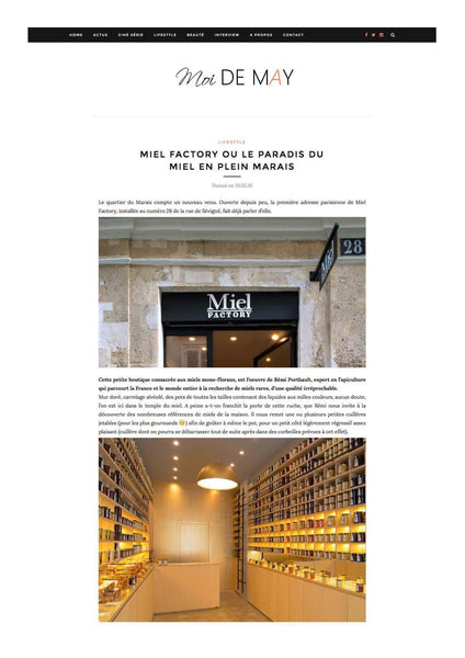 article sur miel Factory sur le blog Moi de May
