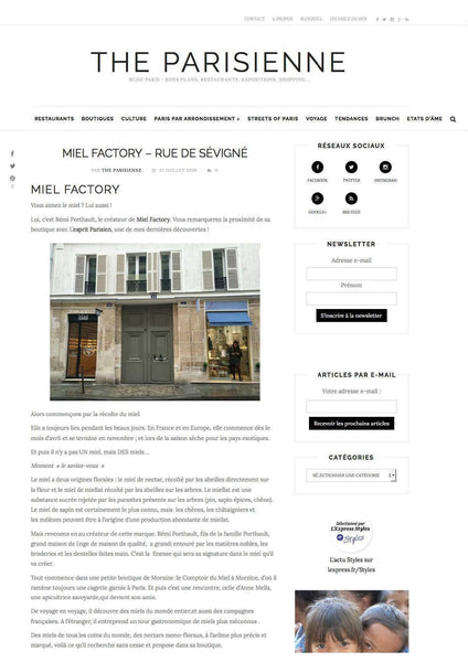 article sur Miel Factory sur le blog The Parisienne