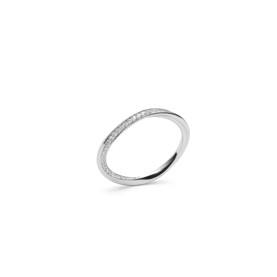 Eternity Ring - Twirled Heart Line - Les Penchants