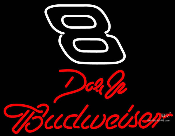 Dale On Budweiser Logo NASCAR Neon Sign