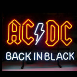 Professional  Ac Dc Back In Black Neon Sing