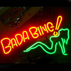 Professional  Bada Bing Shop Open Neon Sign