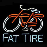 Professional  Big Fat Tire Bicycle Bike Logo Pub Beer Bar Real Neon Sign Gift Fast Ship