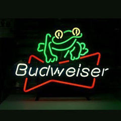 Professional  Budweiser Beer Frog Beer Bar Open Neon Signs