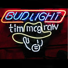 Professional  Bud Tim Mcgraw Beer Bar Neon Sign