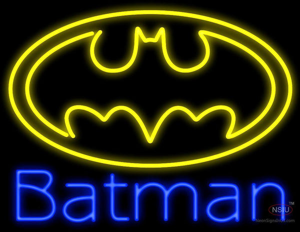 Batman with Logo Neon Sign