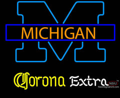 Corona Extra Michigan University Neon Sign