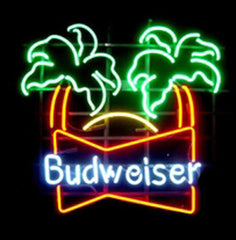 Budweiser Palm Trees Neon Sign