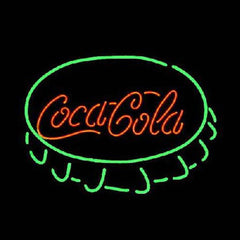 Professional  Coca Cola Cap Beer Bar Open Neon Signs