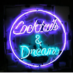 Professional  Cocktails And Dreams Neon Beer Bar Sign