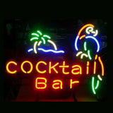 Professional  Cocktail Bar Parrot Beer Bar Open Neon Signs
