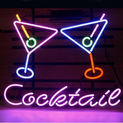 Professional  Cocktail Martini Beer Bar Open Neon Signs