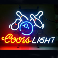 Professional  Coors Bowling Beer Bar Open Neon Signs