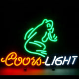Professional  Coors Frog Beer Bar Open Neon Signs