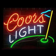 Professional  Coors Golf Beer Bar Open Neon Signs