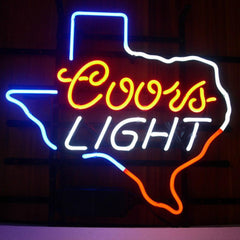 Professional  Coors Texas Beer Bar Open Neon Signs