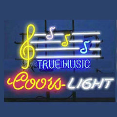 Professional  Coors True Music Beer Bar Open Neon Signs