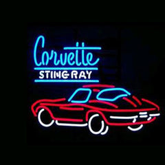 Professional  Corvette Sting Ray Shop Open Neon Sign