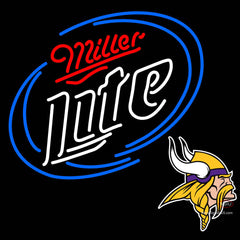 Miller Lite with Viking Logo Neon Sign