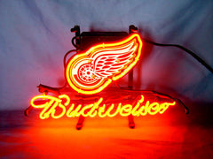 Detroit Red Wings Hockey Neon Sign