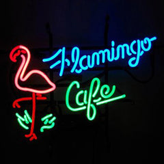 Professional  Flamingo Cafe Shop Neon Sign