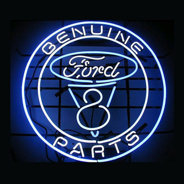 Professional  Genuine Ford Parts Shop Open Neon Sign