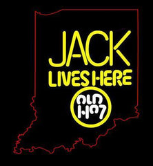 Jack Lives Here Old No7 Indiana  Handmade Art Neon Sign