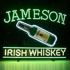 Professional  Jameson Irish Whiskey Beer Bar Open Neon Signs