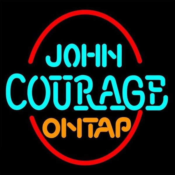 John Courage On Tap Handmade Art Neon Sign