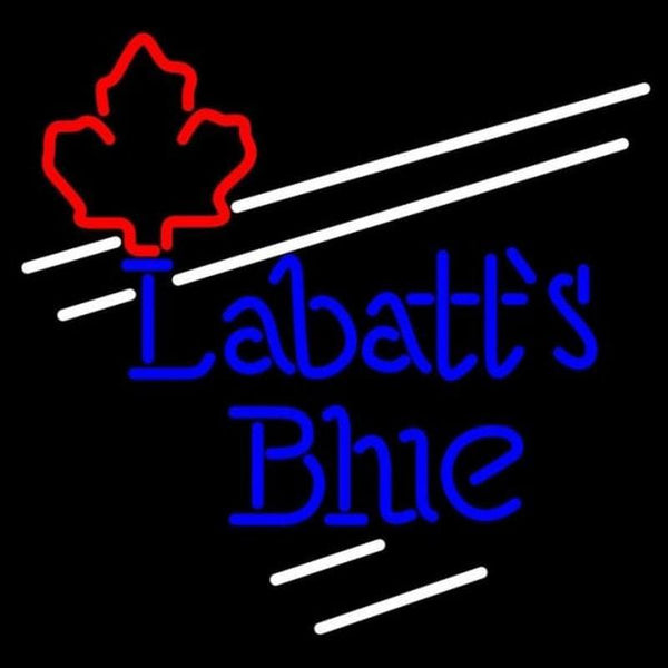 Labatt Blue Maple Leaf White Border Beer Sign Handmade Art Neon Sign