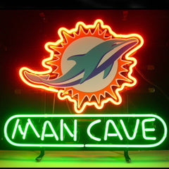 Professional  Miami Dolphin Man Cave Shop Open Neon Sign