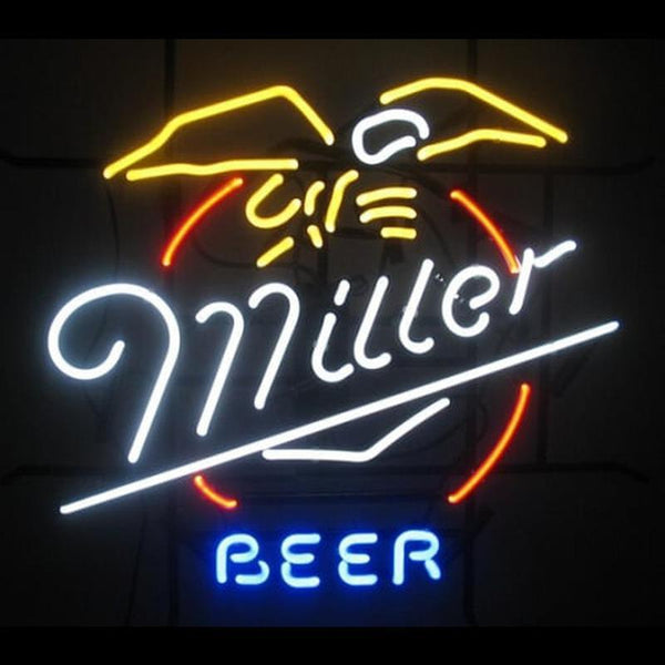 MILLER BEER LAGER BAR PUB Handmade Art Neon Sign