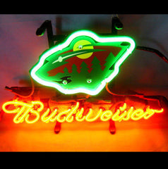 Minnesota Wild Hockey Budweiser Font B Neon B Font Light