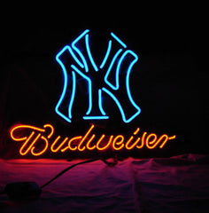 Mlb Yankees Budweiser Beer Bar Club Neon Light Sign