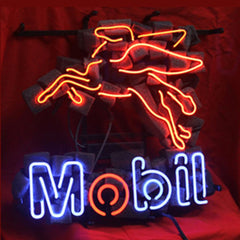 Professional  Mobil Oil Gas Shop Neon Sign
