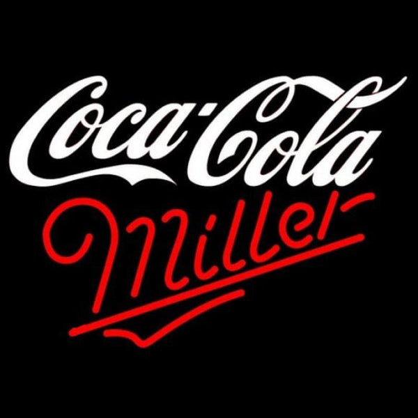 Miller Coca Cola White Beer Sign Handmade Art Neon Sign