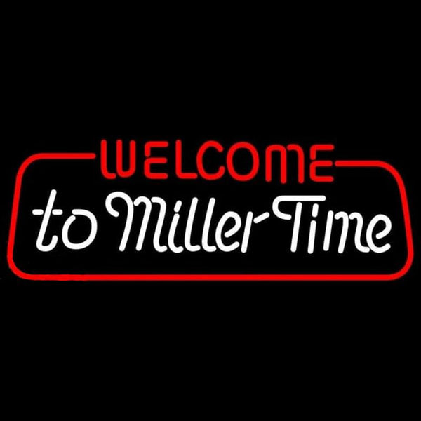 Miller welcome to time Beer Sign Handmade Art Neon Sign