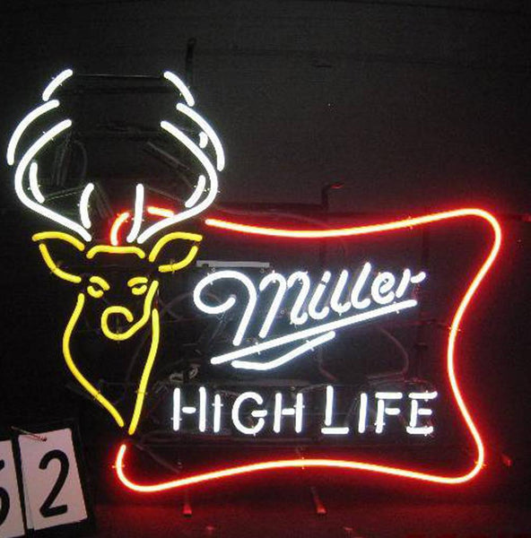Miller High Life Buck Head Neon Sign