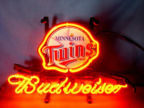 Minnesota Twins Baseball Budweiser Beer Neon Light Sign