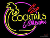 Cocktails and Dreams Bar Neon Sign