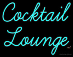 Cursive Cocktail Lounge Real Neon Glass Tube Neon Sign