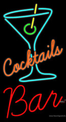 Cocktails Bar Real Neon Glass Tube Neon Sign