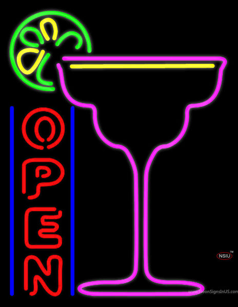 Cocktails Bar Open Real Neon Glass Tube Neon Sign