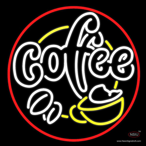 Coffee House With Coffee Cup Neon Sign
