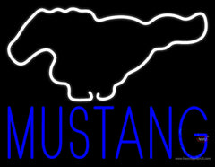 Ford Mustang Real Neon Glass Tube Neon Sign