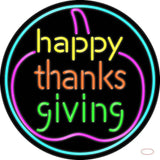Happy Thanksgiving  Real Neon Glass Tube Neon Sign