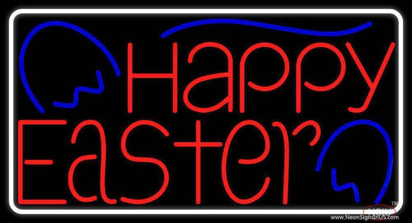 Happy Easter  Real Neon Glass Tube Neon Sign
